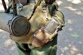 Equipment of infantryman — Stock Photo