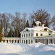 Stock Photo: Winter landscape in old time estate