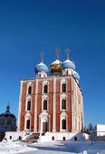 золотые купола рязанского кремля — Стоковое фото