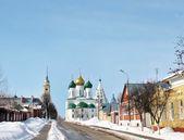 Krajobraz wiejski zima — Zdjęcie stockowe