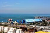 Vista superior, terminal de porto — Fotografia Stock