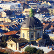 Dome of catholic cathedral, top view — Stock Photo