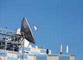 Parabolic antenna satellite communications — Stock Photo