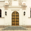 Front door of orthodox church — Stock Photo #33315623