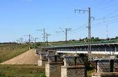 Ponte ferroviario — Foto Stock
