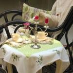 Tea table — Stock Photo