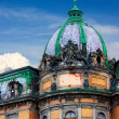 Dome of the historical building with a sculpture — Stock Photo #36525699
