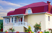 House with a red roof — Stock Photo
