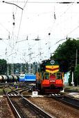 Locomotive maneuvers — Stock Photo