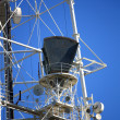 Antenna on the mast — Stock Photo