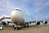 Passenger aircraft A 380 — Stock Photo