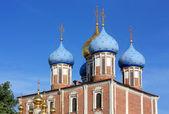 Domes of the Ryazan Kremlin — 图库照片