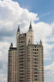 Building with turrets — Stock Photo