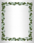 Irish border wedding invitation — Stock Photo