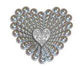 Heart of pearls — Stock Photo