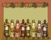 Pilgrims Thanksgiving Background — Stock Photo