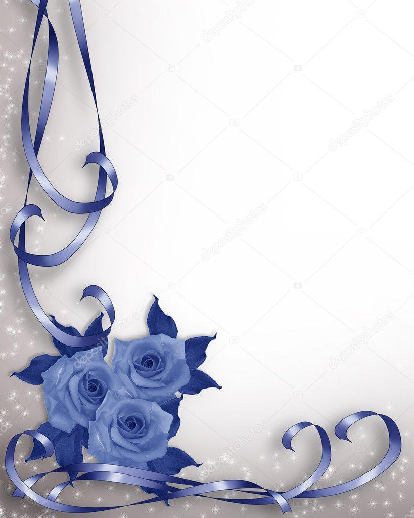 Royal Blue Wedding Invitation Background