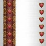 Elegant red hearts border — Stock Photo #2125621