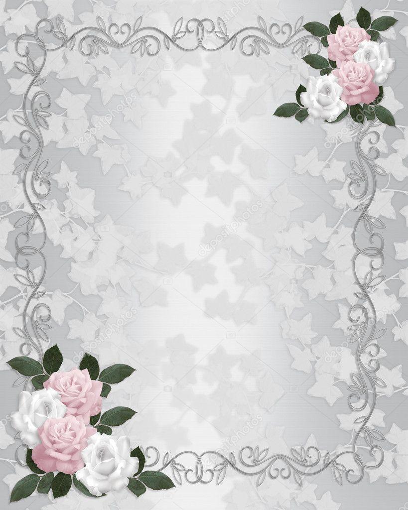 hochzeit einladung vorlage satin rosen stockfoto irisangel 2177226. Black Bedroom Furniture Sets. Home Design Ideas