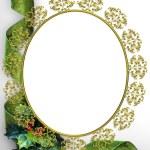 Christmas ribbons photo frame border — Stock Photo #2241792