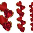 Valentine hearts borders — Stock Photo