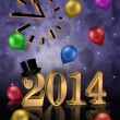 New years eve Party 2014 — 图库照片