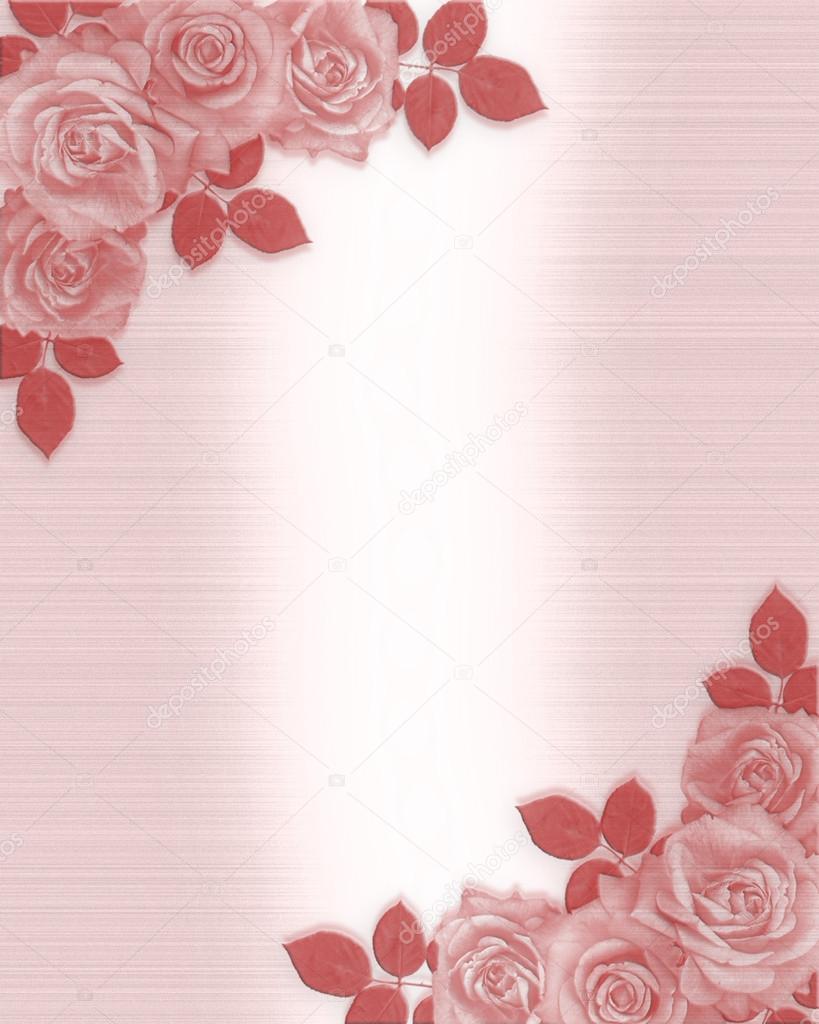 rose wedding invitation background - photo #14