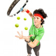 Tennis player magician — Stock Photo #13500411