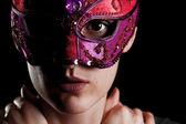 Chica con máscara — Foto de Stock
