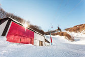 Billboard at ski center — Stock Photo