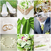 Wedding collage — 图库照片