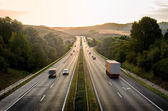 Highway traffic — Stockfoto