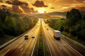 Strada tramonto — Foto Stock