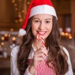 Young woman and candy — Stock Photo
