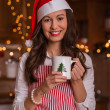 Young Girl preparing for Christmas — Stock Photo #14690023