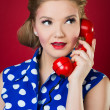Lady Chatting On The Phone — Stock Photo