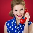 Lady Chatting On The Phone — Stock Photo #18739237