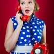 Lady Chatting On The Phone — Stock Photo #18739249