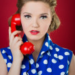 Lady Chatting On The Phone — Stock Photo #18739251