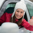 Stock Photo: Driving in winter