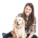 I love my dog — Stock Photo