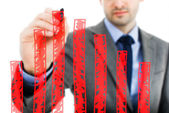 Business man writing over... — Stock Photo