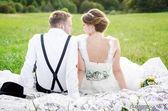 Vintage bruiloft — Stockfoto