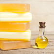 Stock Photo: Yellow soap