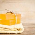Yellow soap — Stock Photo #28748085