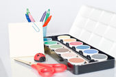 Water-color paint-box. — Stock Photo