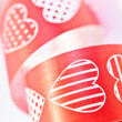 Red heart ribbon — Stock Photo #28750891