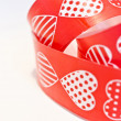 Red heart ribbon — Stock Photo
