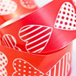 Stock Photo: Red heart ribbon