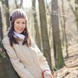 Stock Photo: Young woman in the forest